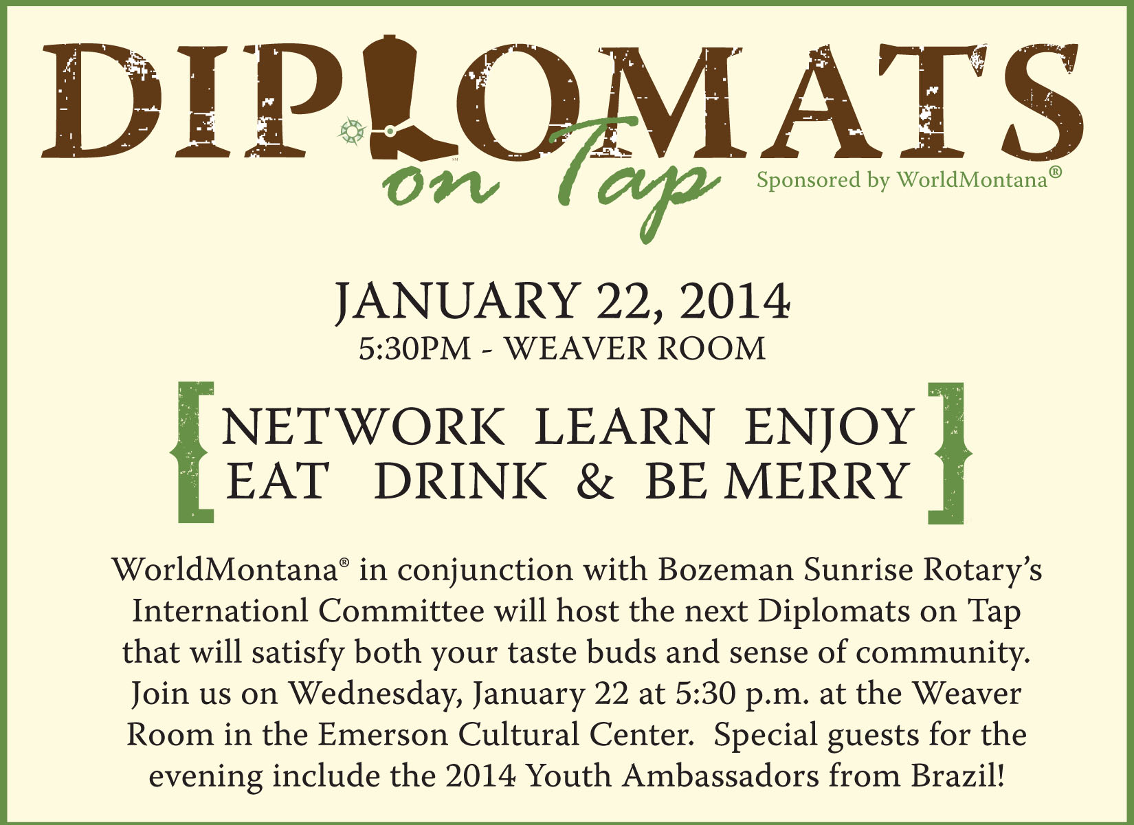 Diplomats on Tap Web Image